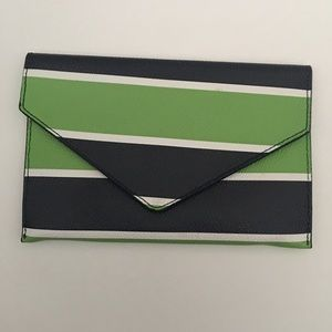 👗 Vera Bradley Stripe Envelope Clutch Bag